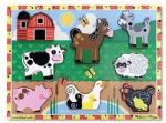 CHILDRENS CHILD MELISSA AND DOUG WOODEN FARM ANIMALS CHUNKY 8 PIECE PUZZLE